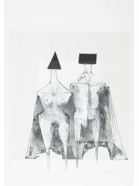 Two Standing Figures by Lynn Chadwick