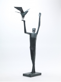 Man Releasing Bird III by Terence Coventry