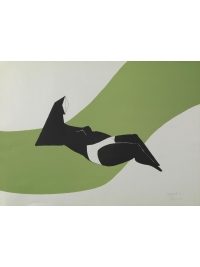 Reclining Figure (Green Wave) by Lynn Chadwick