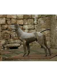 Standing Hound by Terence Coventry
