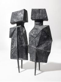 Maquette XI Two Watchers V by Lynn Chadwick