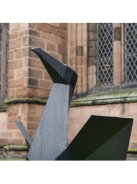 Monumental Steel Cormorant I by Terence Coventry