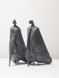 Walking Cloaked Figures II by Lynn Chadwick