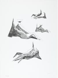 Two Sitting Figures II by Lynn Chadwick
