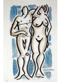 Blue Couple by Harold Ambellan