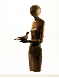 Figure with Bird by Anthony Abrahams