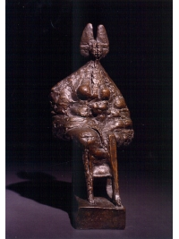 Seated Queen Maquette by Ralph Brown