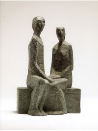Couple II Maquette by Terence Coventry