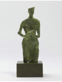 Figure with Bird by John Bridgeman