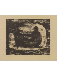 Black Reclining Figure III by Henry Moore