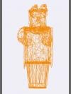Untitled Pyramid II {Ra, Man with Falcon Head} by Gavin McClafferty